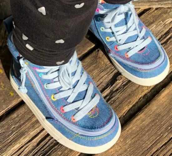 Kids Denim Rainbow Thread Billy Footwear Othesenschuhe FiNiFuchs